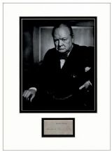 Winston Churchill Autograph Signed Display
